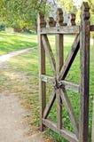 Cancello rurale dell'annata fotografia stock libera da diritti