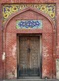 Cancello tradizionale khan di Masjid Wazir Immagini Stock
