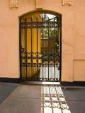 Cancello urbano del ferro Fotografia Stock