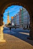 Cancello verde a Danzica fotografia stock