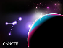Cancer Astrological Sign and copy space Royalty Free Stock Image