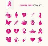 Cancer awareness elements icon set EPS10 file. royalty free stock photo