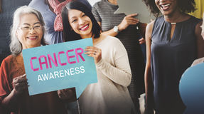 Cancer Awareness Female Issue Illness Concept Stock Photography
