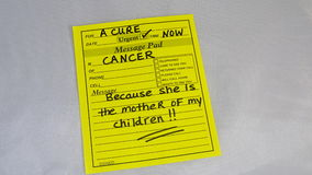 Cancer Awareness. Awareness for funding and research Stock Images