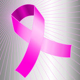 Cancer awareness pink ribbon Royalty Free Stock Photos
