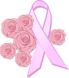 Cancer awareness ribbon Royalty Free Stock Image