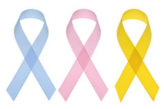 Cancer awareness ribbons Royalty Free Stock Image