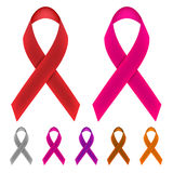 Cancer Awareness Ribbons Stock Photography