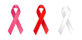 Cancer awareness ribbons in vector Stock Image