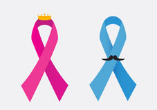 Cancer awareness ribbons Royalty Free Stock Images