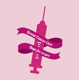 Cancer campaign design Royalty Free Stock Photos