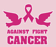 Cancer campaign design Stock Photography