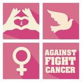 Cancer campaign design Stock Photo