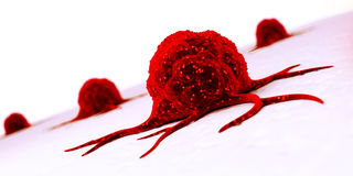 Cancer cell - close up stock illustration