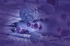 Cancer cell in the future. 3d rendering - cancer cell in the future Royalty Free Stock Photos