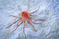 Cancer cell, illustration Stock Photos