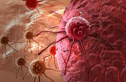 Cancer cell. Made in 3d software Royalty Free Stock Photo