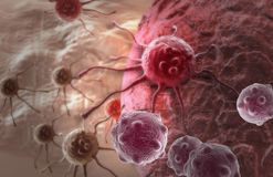 Cancer cell. Made in 3d software Royalty Free Stock Image