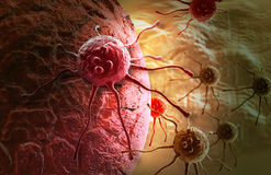 Cancer cell. Made in 3d software Royalty Free Stock Photography