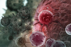 Cancer cell. Made in 3d software Royalty Free Stock Images