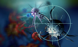 Cancer cell. Made in 3d software Stock Image