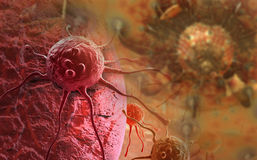 Cancer cell. Made in 3d software Stock Photography