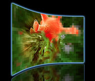 Cancer cell pixelated Stock Photos