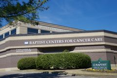 Cancer Center at Baptist Memorial, Memphis Tennessee. The Baptist Cancer Center provides the complete continuum of care for cancer patients—from diagnosis and Stock Photos