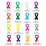 Cancer color ribbons campaign vector Stock Photo