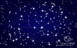 Cancer constellation abstract starry sky Royalty Free Stock Photo