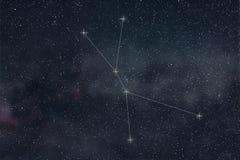 Cancer Constellation. Zodiac Sign Cancer constellation lines stock illustration
