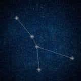 Cancer Constellation. Zodiac Sign Cancer constellation lines vector illustration
