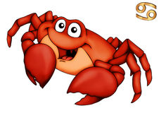 Cancer, Crab, Horoscope, Star Sign Royalty Free Stock Images