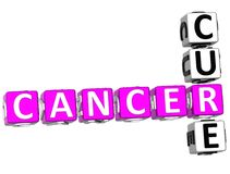 Cancer Cure Crossword. 3D Cancer Cure Crossword on white background Stock Images