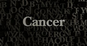 Cancer - 3D rendered metallic typeset headline illustration. Can be used for an online banner ad or a print postcard Stock Photo