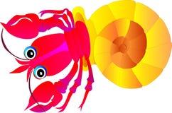 Cancer dans une coquille de coque. Illustration de vecteur   Images stock
