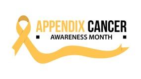 Cancer de ruban de mois de conscience Annexe illustration de vecteur de conscience de cancer illustration stock