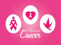 Cancer design over pink background vector illustration Royalty Free Stock Images