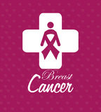 Cancer design over purple background vector illustration Stock Photography