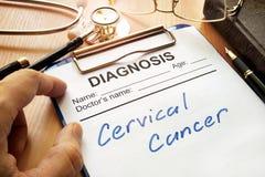 Cancer du col de l'utérus images stock
