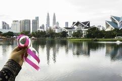 Cancer du sein rose de bande photos libres de droits