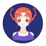 Cancer för horoskopzodiaksymbol stock illustrationer