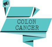 Cancer för kolon för ordhandstiltext Affärsidé för cancer som bildar i silkespappren av den stora inälvan vektor illustrationer