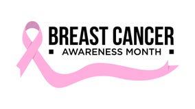 Cancer för medvetenhetmånadband Illustration för bröstcancermedvetenhetvektor stock illustrationer