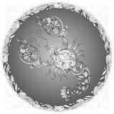 Cancer in a floral frame. On gray background Stock Image