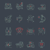 Cancer  gastrointestinal tract  icons Stock Photo