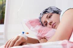 Cancer girl Royalty Free Stock Photos