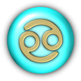 Cancer Glyphs. Horoscope Glyphs Button - Cancer (Include Clipping Path Stock Images