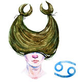 Cancer horoscope raster Royalty Free Stock Photography