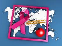Cancer i barn, begreppet för världscancerdagen, illustrationen 3d isolerade blått royaltyfri illustrationer